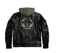 Harley Davidson Men's Camaraderie Leather Jacket Hoodie Sword 3in1 XL 97077-09VM