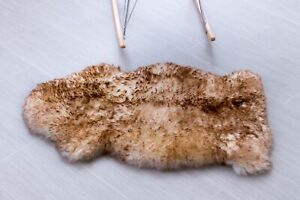 Genuine Australian Thick Sheepskin Rug One Pelt Natural Fur, Single 2' x 3'