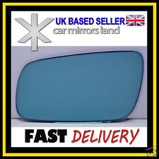Left passenge Wing Car Mirror Glass Replacement Blue CONVEX VW GOLF 4 1994-2004
