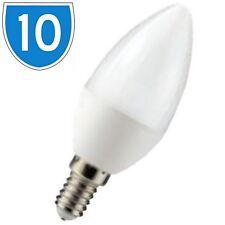 10x E14 SES 6W LED Candle Light Bulb Lamp Daylight White Desk Spot Energy Saving