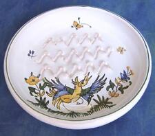 Frotail gratte aïl, Frotte ail en FAIENCE DE MOUSTIERS céramique peint main POT