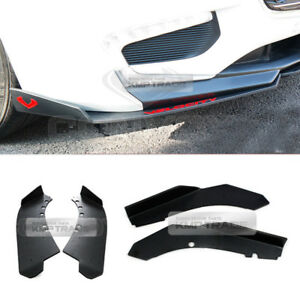 Canard Front/Rear Cup wing Body Kit Matte Black for CHEVROLET 17-18 Malibu 1.5L