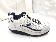Skechers Shape Ups mens navy blue white 9.5M tennis shoes sneakers 50875