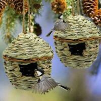 Natural Grass Of Woven Hanging Birdhouse Nest Birds Of House Straw Bird V9M0