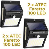 ATEC - Faretto Solare da Esterno IP65 (2PZ Faretto 100 Led)