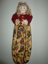 Craft/Sewing Theme Plastic/Grocery Bag Holder -Dispenser-Doll