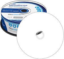 25 MediaRange BD-R 25GB 6x Blu-ray bedruckbare Rohlinge full printable Spindel