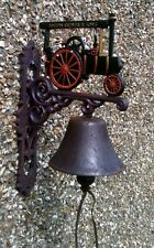 Attractive TRACTION ENGINE Outside BELL with loud ring. Brewer. Lovely Gift.