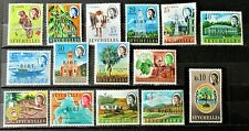 A1 - BRITISH INDIAN OCEAN TERRITORY 1968 COMPLETE SET OF 15 MINT ON STOCK-CARD