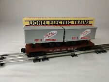Lionel O-GAUGE:  Frisco Flat Car with Trailers 6-16926