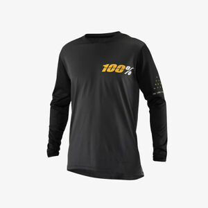 100% Ridecamp Long Sleeve MTB Jersey Charcoal Small
