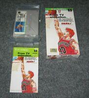 Nintendo Super Famicom Slam Dunk Yonkyou Complete Japan SNES TV Game Basketball