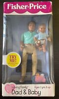 NIB Fisher Price Loving Family Dollhouse AA DAD & BABY BOY INFANT DOLL 1999