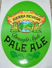 SIERRA NEVADA BREWING Draught Style Pale Ale Oval STICKER decal craft beer chico