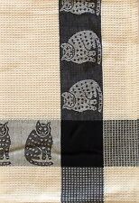 Cat Kitchen Towel | Cotton Waffle Weave | Ivory Black | Pictorial