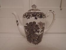 Vintage Brown Transferware Woodland Enoch Wedgwood Teapot/Coffee Pot