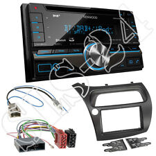 Honda Civic VIII (FK1/FK2/FK3 Doppel-DIN Blende+Adapter+Kenwood DPX7000DAB Radio