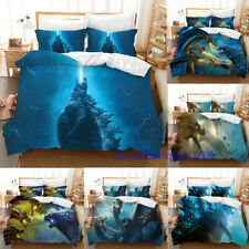 Godzilla: King of the Monsters 3D Quilt Cover 3PCS Bedding Set & Pillowcase