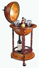 WestWood Globe Bar Drinks Cabinet Host Glasses Bottles Wine Trolley Stand 330MM