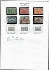 Lot of 6 US Stamps 1898 Trans-Mississippi Exposition collection on sheet