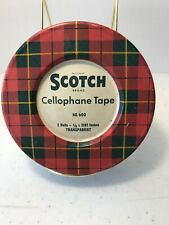 Vintage Scotch Brand Cellophane Tape Tin Metal Container Empty