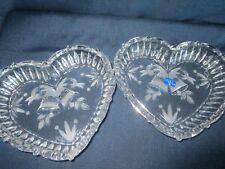 2 Studio Nova by Mikasa Heart Shaped Crystal bowls with Festive Bells