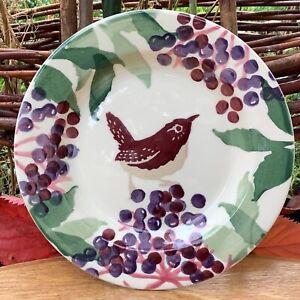 "EMMA BRIDGEWATER . Wren & Elderberry . Small 6-1/2"" PLATE . Birds"