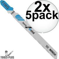 "Bosch T119BO 5pk 3-1//4/"" 12TPI T-Shank Jigsaw Blades 2x New"