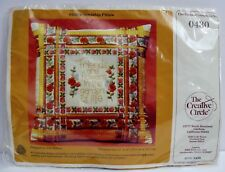 New listing Creative Circle Friendship Pillow Stamped Crewel Embroidery Craft Kit Friends