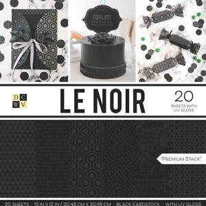"American Crafts Card Stock 12"" X12"" Le Noir Premium Printed Cardstock Stack"