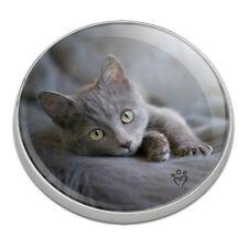 Gray Domestic Shorthair Kitten Cat Fur Golfing Premium Metal Golf Ball Marker