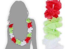 Lot de 60 collier Hawaïen rouge blanc vert ambiance tropique déguisement HK-13