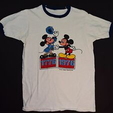 Rare Mickey Mouse Shirt Vintage 76 Bicentennial Mickey meets Mickey Tshirt Sm