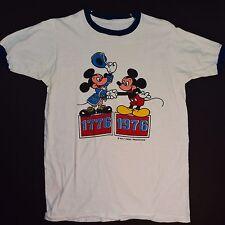 Rare Mickey Mouse Shirt Vintage 76 Bicentennial Mickey meets Mickey Tshirt Sm