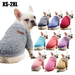 Small Dog Winter Clothes Security Puppy Cat Vest Soft Pet T-Shirt French Bulldog