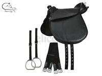 "Elico Synthetic Cub Saddle 12""  with Irons Nylon Stirrup Straps & Girth FREE P&P"