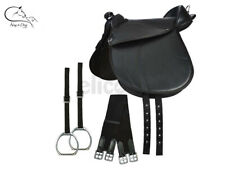 Elico Synthetic Cub Saddle with Irons, Nylon Stirrup Straps and Girth FREE P&P