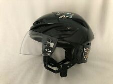 San Jose Sharks Game Used Easton Black Helmet - Brad Lukowich Size L