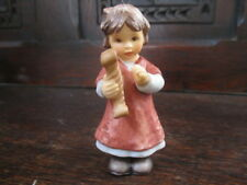 "Hummel Christmas Ornament Porcelain Figurine "" A Magical Harp "" 2001 #49"