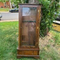 Antique Wood Gun Cabinet