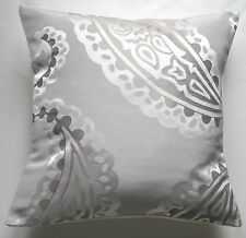 "16"" Laura Ashley 'Emperor Dove Grey' fabric cushion cover"