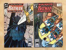 DC The Many Deaths of the Batman Comic Book Set 433 & 434 RARE 1989 VF-NM HTF