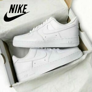 UK NIKE AIR FORCE 1'07 Women's/Men Sneaker Sport Shoes White Sneakers Leather