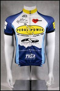 CUSTOM PACTIMO PEDAL POWER CYCLING JERSEY RACE RAGLAN ADULTS MENS S