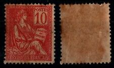 MOUCHON 10c Rouge, Neuf * = Cote 50 €  / Lot Timbre France n°116  2nd choix