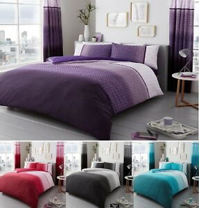 Luxury URBAN-OMBRE Printed Duvet/Quilt Cover + Pillow Case All Size Bedding Set