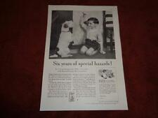 1935 Scottie Terrior Ad for Cream of Wheat Young Boy Training a Scottish Terrior