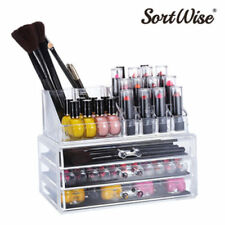 SortWise Detachable 3 Drawers Acrylic Cosmetic Makeup Cosmetics Organizer Clear