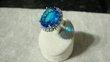 Swiss Blue Cubic Zirconia Ring