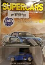 MODEL SUPERCARS COLL MAG=DIE - CAST METAL 1: 43 # 45 = AUDI R8 V10 COUPE- 2019